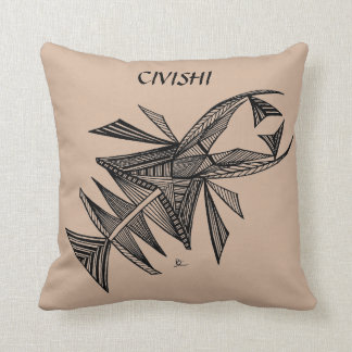 Negro de Civishi #218, criatura abstracta del mar Cojin
