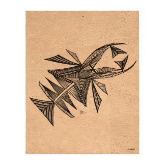 Negro de Civishi #218, criatura abstracta del mar Impresiones En Corcho