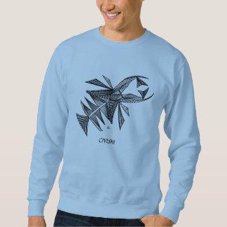Negro de Civishi #218, criatura abstracta del mar Sudadera Con Capucha