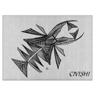 Negro de Civishi #218, criatura abstracta del mar Tablas De Cortar