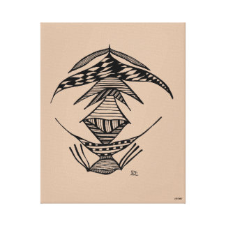 Negro de Civishi #23, criatura extranjera Lona Envuelta Para Galerias