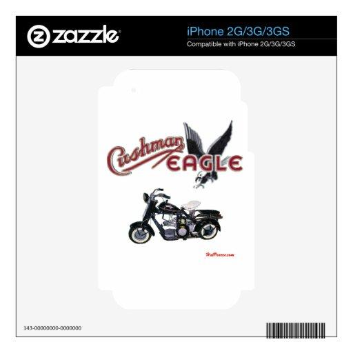 Negro de Cushman Eagle iPhone 3G Calcomanías