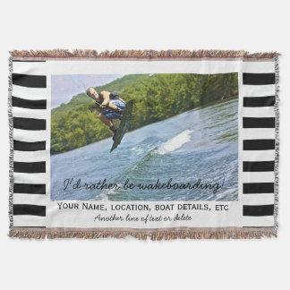 Negro de encargo de la foto del barco de manta