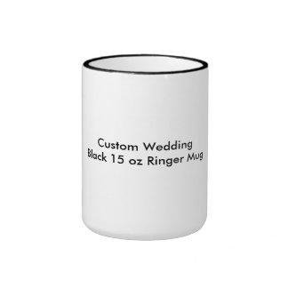 Negro de encargo del boda taza del campanero de 15