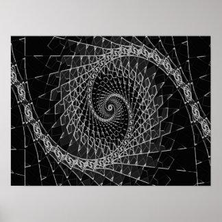 Negro de Fibonacci, poster Póster