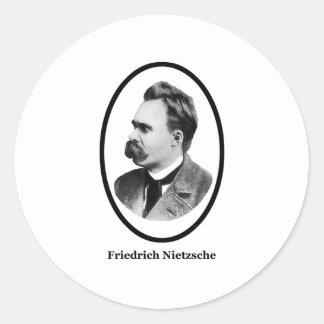 Negro de Friedrich Nietzsche los regalos de Zazzle Etiquetas Redondas