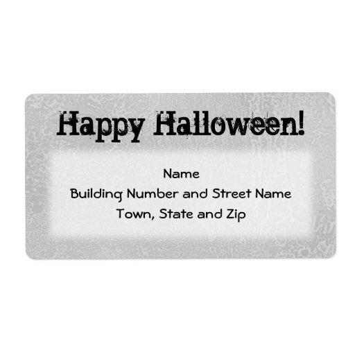 Negro de Halloween y gris pálido sucio Etiquetas De Envío
