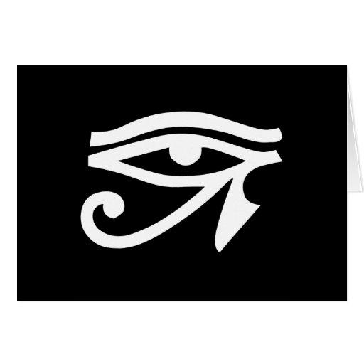 Negro de Horus del Ra del ojo Tarjeta De Felicitación