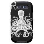 Negro de Kraken del pulpo de Steampunk del caso de Galaxy SIII Fundas