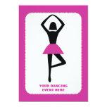 Negro de la bailarina del baile, personalizado de invitación 12,7 x 17,8 cm