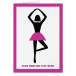 Negro de la bailarina del baile, personalizado de tarjeta de felicitación