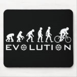 Negro de la bici de la evolución tapetes de raton