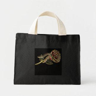 Negro de la bolsa de asas de la serpiente