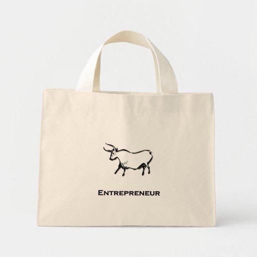 Negro de la camisa del empresario de Bull Bolsa De Mano