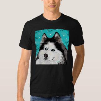 Negro de la camiseta de American Apparel del perro Playera