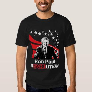 Negro de la camiseta de la revolución de Ron Paul Remeras