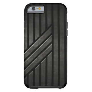 Negro de la cautela funda de iPhone 6 tough