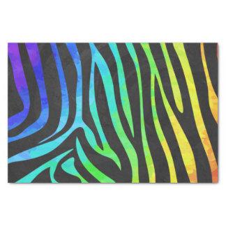Negro de la cebra e impresión del arco iris papel de seda pequeño