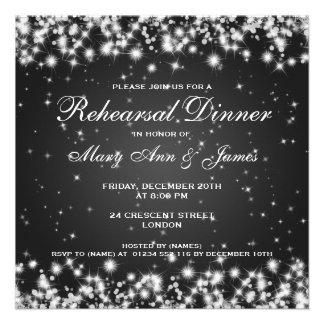 Negro de la chispa del invierno de la cena del ens comunicados personalizados