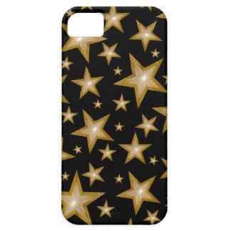 Negro de la cubierta del iPhone 5 de las estrellas iPhone 5 Case-Mate Protector