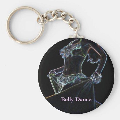 Negro de la danza de Belly Llavero Redondo Tipo Pin