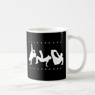 Negro de la danza de rotura tazas de café