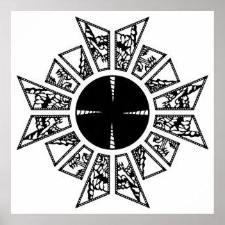 Negro de la estrella del Lament Póster