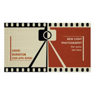 Negro de la fotografía de la cámara del fotógrafo, plantillas de tarjeta de negocio