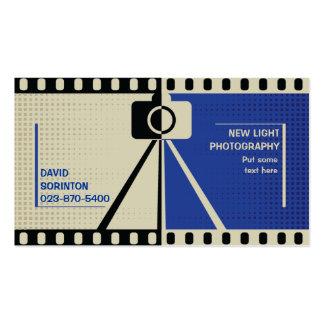Negro de la fotografía de la cámara del fotógrafo, tarjetas de visita