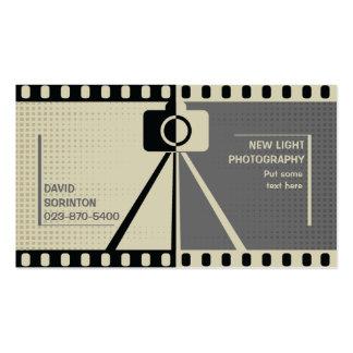 Negro de la fotografía de la cámara del fotógrafo, plantillas de tarjetas personales