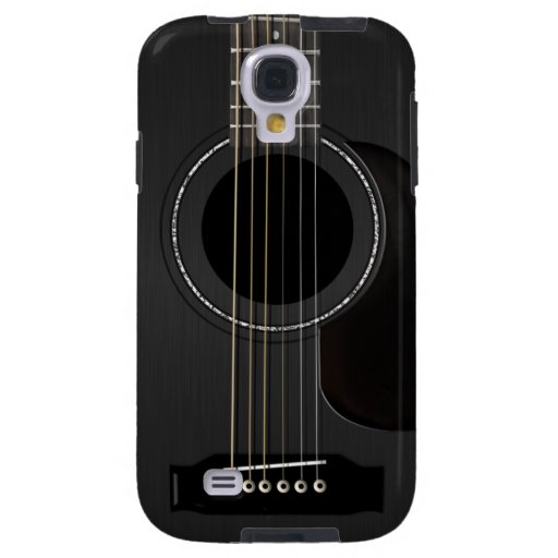 Negro de la guitarra acústica