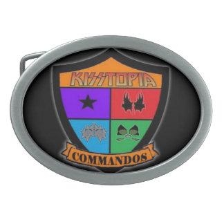 Negro de la HEBILLA DEL CINTURÓN de los COMANDOS d Hebillas De Cinturón Ovales