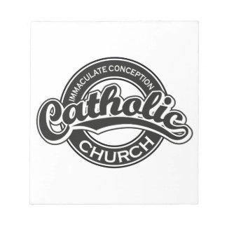 Negro de la iglesia católica de la Inmaculada Conc Libretas Para Notas
