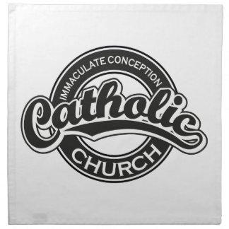 Negro de la iglesia católica de la Inmaculada Conc Servilletas De Papel
