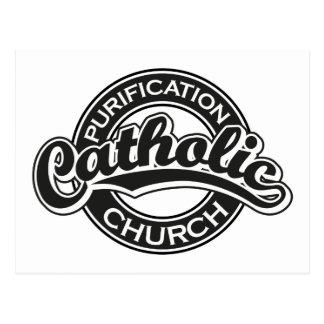 Negro de la iglesia católica de la purificación postales