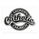 Negro de la iglesia católica de St Andrew Tarjeta Postal
