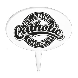 Negro de la iglesia católica de ST ANNE Decoración De Tarta