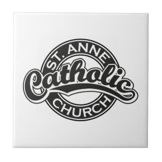 Negro de la iglesia católica de ST ANNE Azulejos