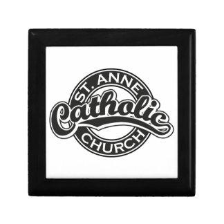 Negro de la iglesia católica de ST ANNE Cajas De Regalo