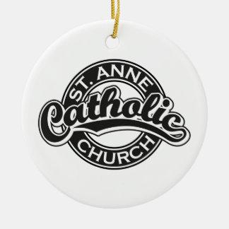 Negro de la iglesia católica de ST ANNE Ornamento Para Reyes Magos