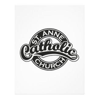 Negro de la iglesia católica de ST ANNE Membrete Personalizado