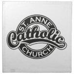 Negro de la iglesia católica de ST ANNE Servilletas