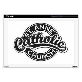 Negro de la iglesia católica de ST ANNE Skins Para Portátiles