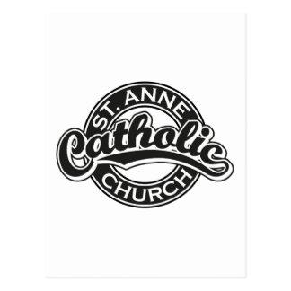 Negro de la iglesia católica de ST ANNE Postal
