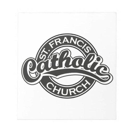 Negro de la iglesia católica de St Francis Blocs De Notas
