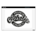 Negro de la iglesia católica de St Francis Portátil Calcomanía