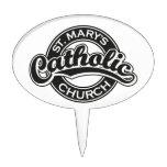 Negro de la iglesia católica de St Mary Decoración Para Tarta
