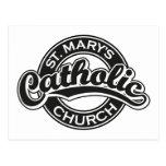 Negro de la iglesia católica de St Mary Tarjetas Postales