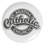 Negro de la iglesia católica del St. Agatha Platos