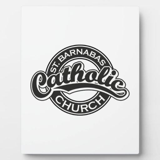 Negro de la iglesia católica del St. Barnabus Placas Para Mostrar